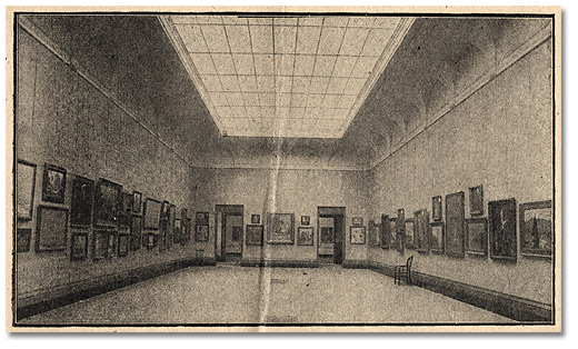 Interior Gallery of the Art Museum of Toronto opened 4 avril 1918