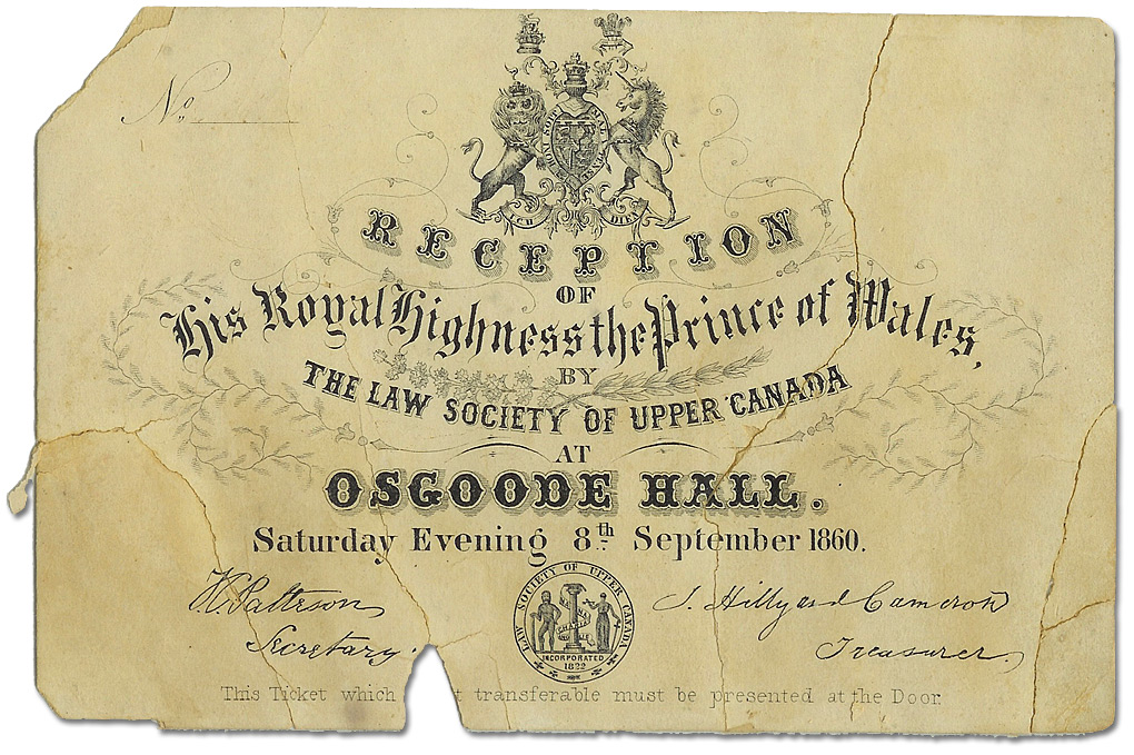 Invitation to the Prince of Wales Ball, 1860