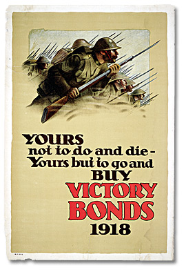 Affiche de guerre - L'emprunt de la victoire : Yours Not to Do or Die [Canada], [vers 1918]