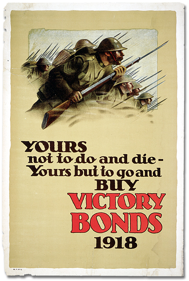 War Posters - Victory Bonds: Yours Not to Do or Die [Canada]: www.archives.gov.on.ca/en/explore/online/posters/big/big_10_war...