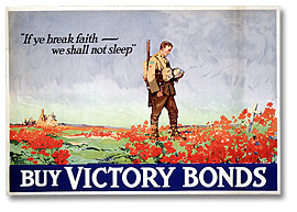 Affiche de guerre - L'emprunt de la victoire :  If Ye Break Faith - We Shall Not Sleep [Canada], [vers 1918]