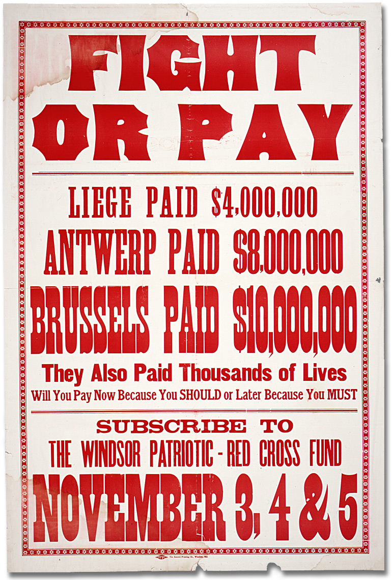 Affiche de guerre - Le fonds patriotique canadien : Fight or Pay [Canada], [entre 1914 et 1918]