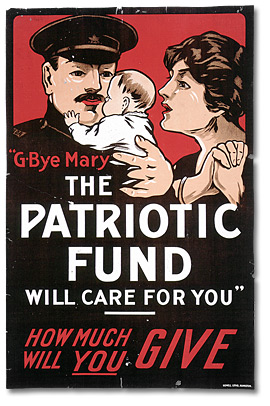 Affiche de guerre  - Le fonds patriotique canadien : G-Bye Mary, the Patriotic Fund Will Care for You [Canada], [entre 1914 et 1918]