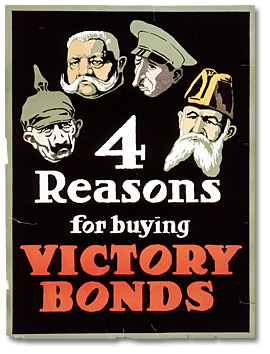 Affiche de guerre -  Four Reasons for Buying Victory Bonds [Canada], [vers 1918]