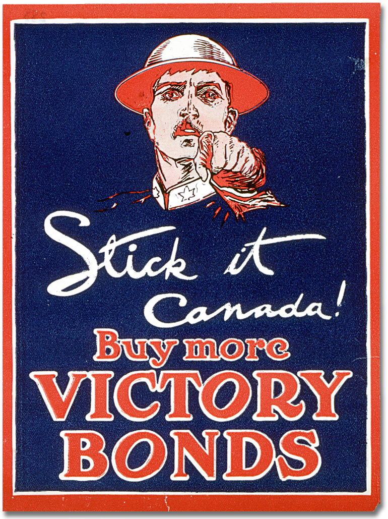 War Posters - Victory Bonds: Stick it Canada, Buy more Victory Bonds ...: www.archives.gov.on.ca/en/explore/online/posters/big/big_19_war...