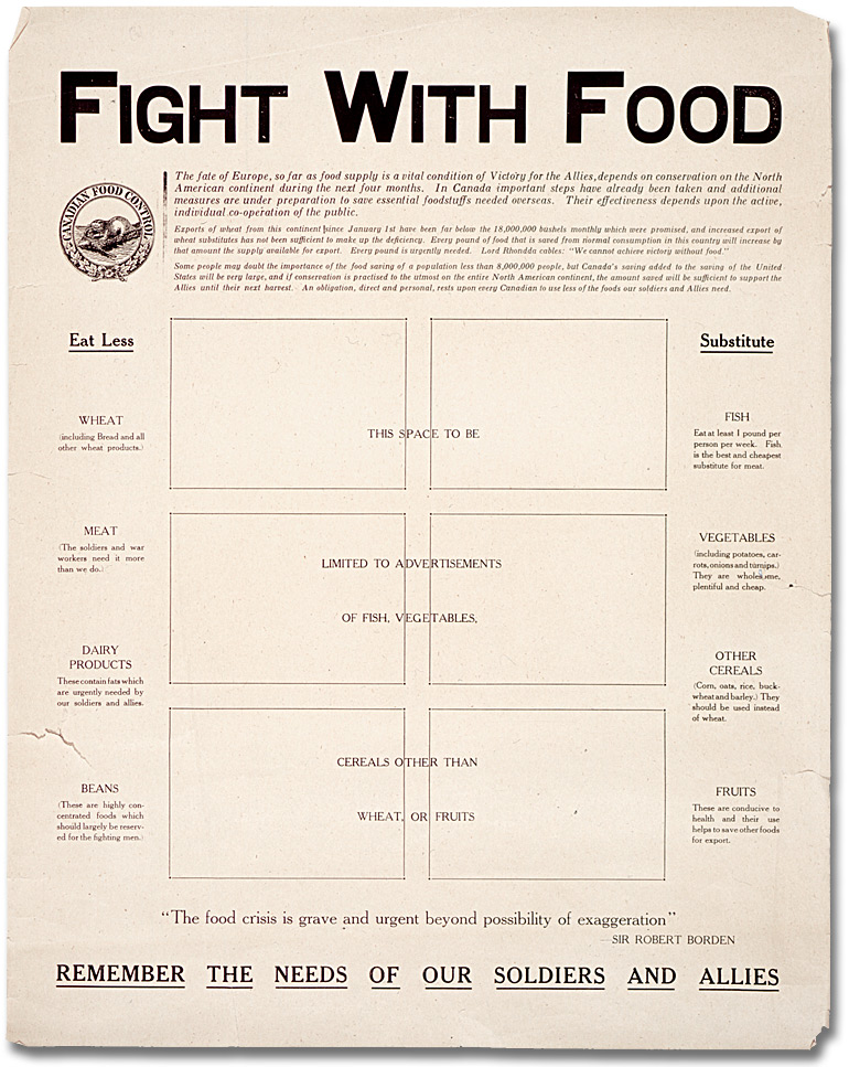 Affiche de guerre - Accroissement de la production : Fight with Food [Canada], [vers 1918]