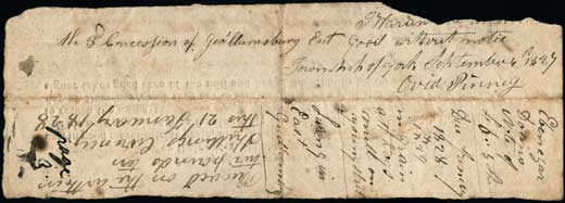 Promisory note for £6.5 from E. Doan June 28, 1827, Recto