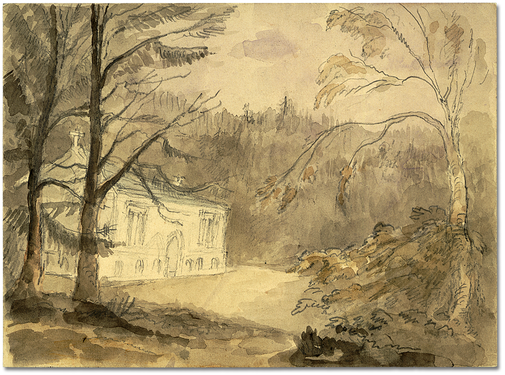 Aquarelle : Wolford Chapel, England, [vers 1796]