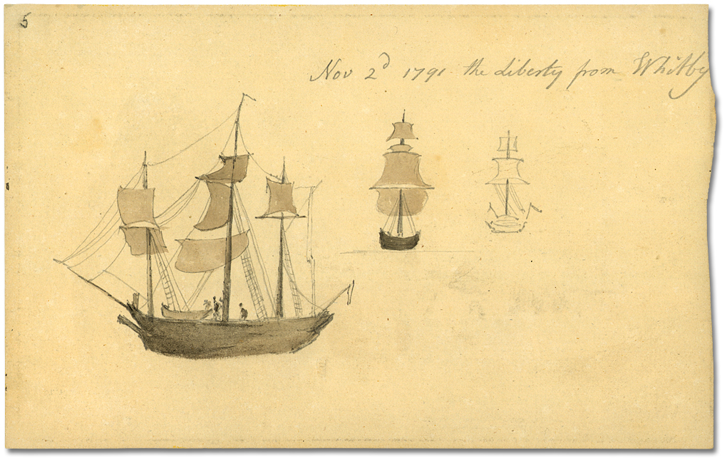Dessin : Nov 2nd, 1791 - The Liberty from Whitby