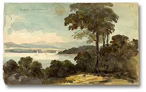 Aquarelle : Near Quebec, 1792 (détail)
