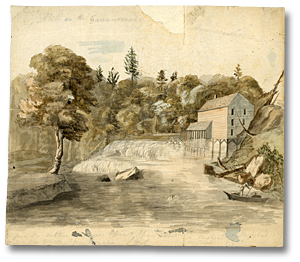 Watercolour: Mill on the Gananocoui, [ca. 1792]