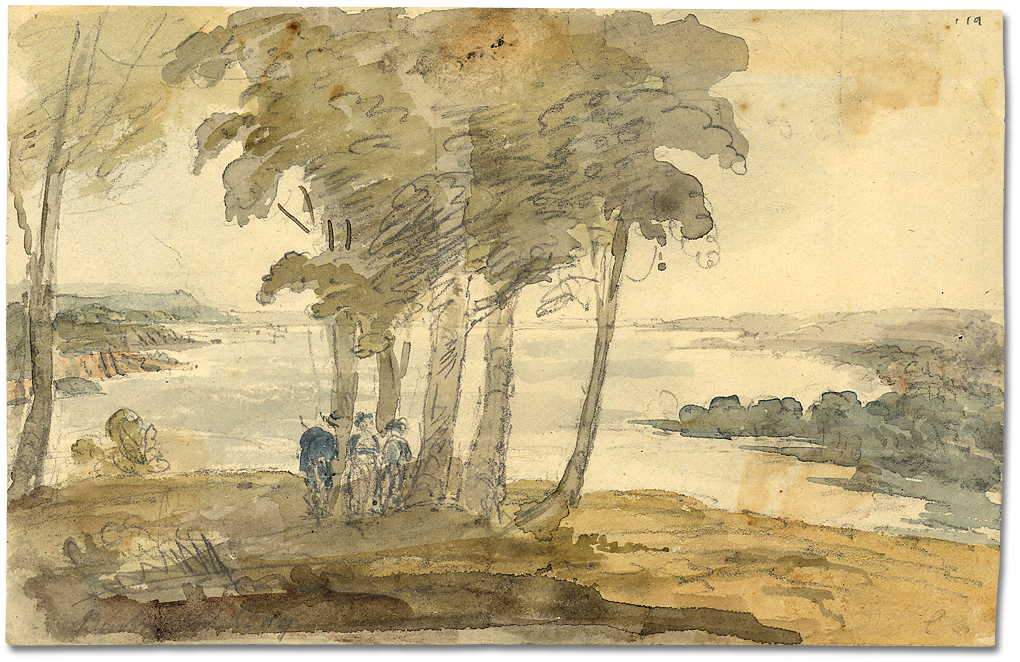 Aquarelle : Burlington Bay, [vers 1796]