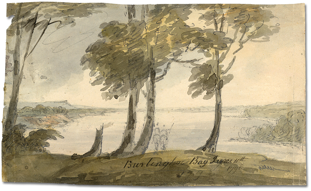 Aquarelle : Burlington Bay, 11 juin 1796