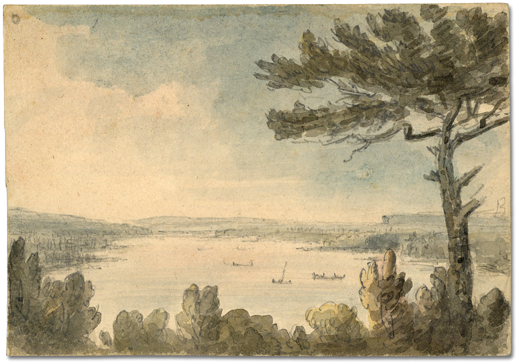 Dessin : Cootes paradise from hill, 11 juin 1796
