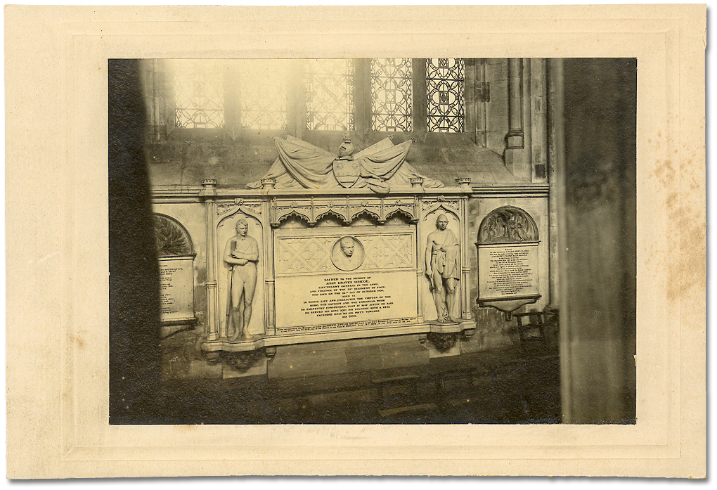 Photographie : John Graves Simcoe Memorial; Exeter Cathedral, England