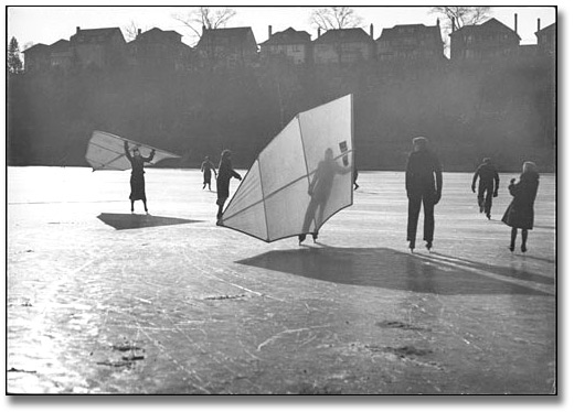 Photo: People skate sailing, [1933]