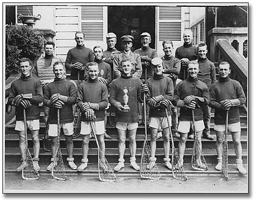 Photo: Lacrosse team, [between 1900 and 1920]
