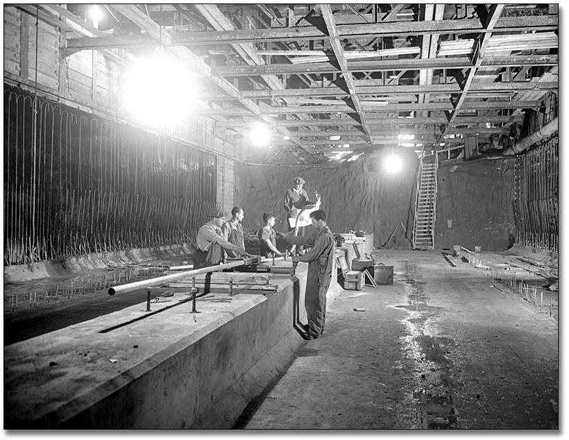 Photographie : Subway Construction, 1950