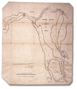 A True Copy of a Copy of the Map of the Survey under the 6th Article of the Treaty of Ghent, [vers 1826]
