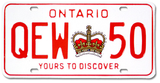 Plaque d'immatriculation de véhicule « Ontario. Yours to discover», [vers 1980]