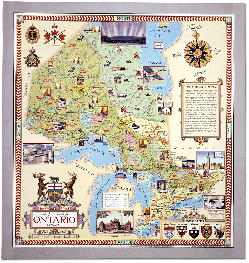Ontario Canada Map The...