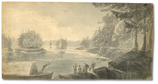 Aquarelle : Mille Îles, 26 juillet (Thousand Islands), [vers 1796]