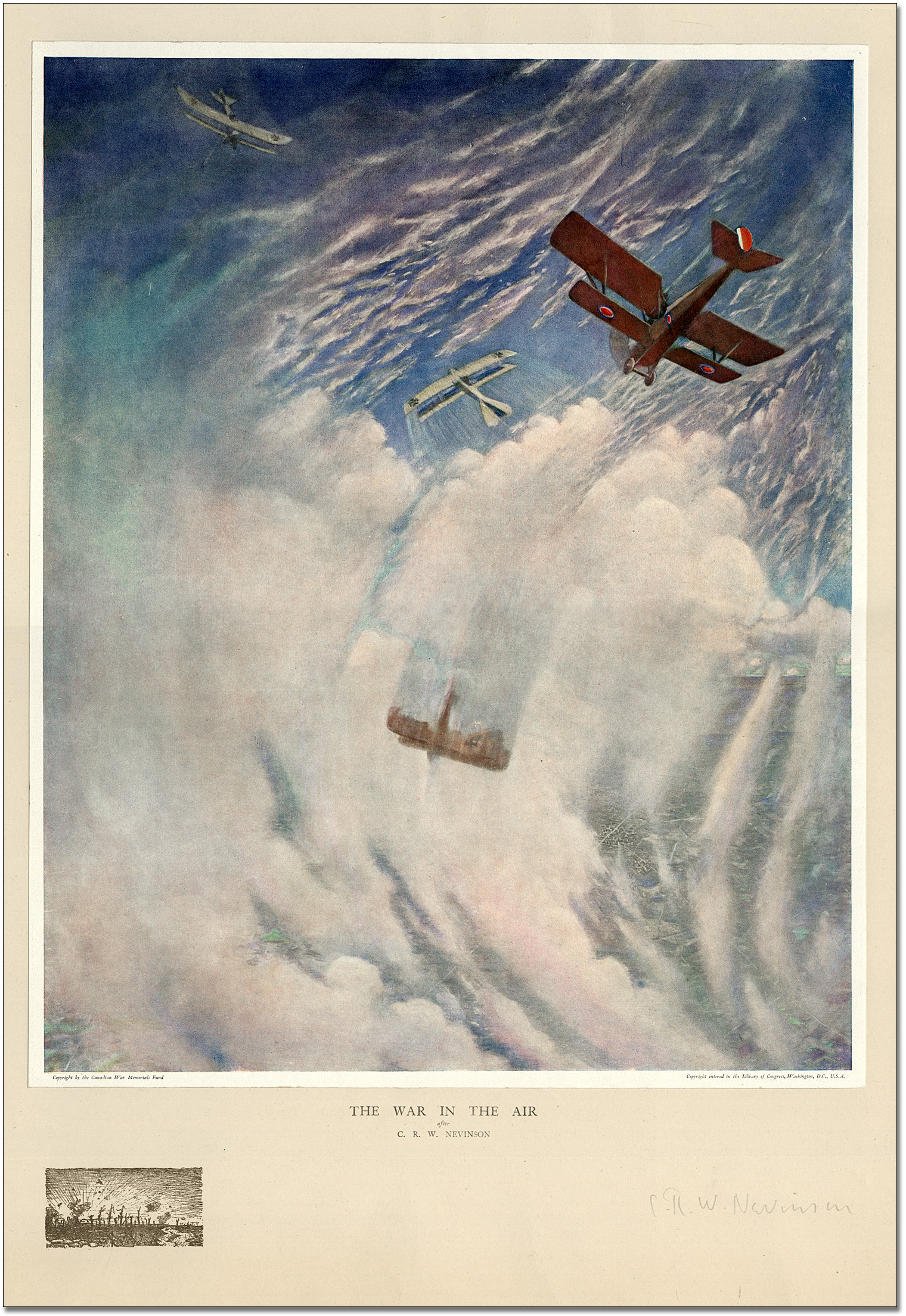 The War In the Air after C.R.W. Nevinson, 1917