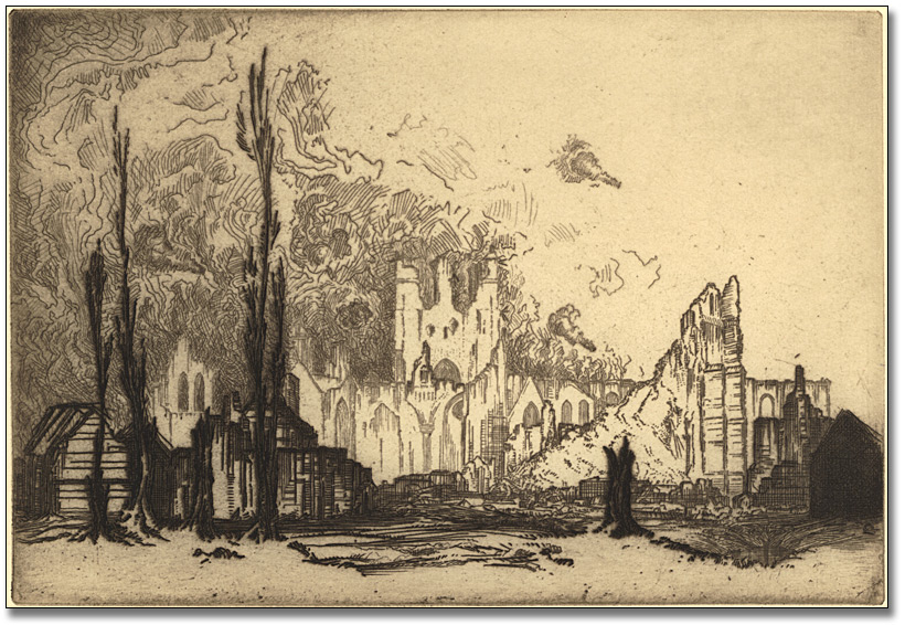 The ruins of Ypres, 1917