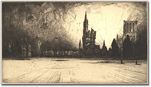 Print: View of Ypres, France, 1914