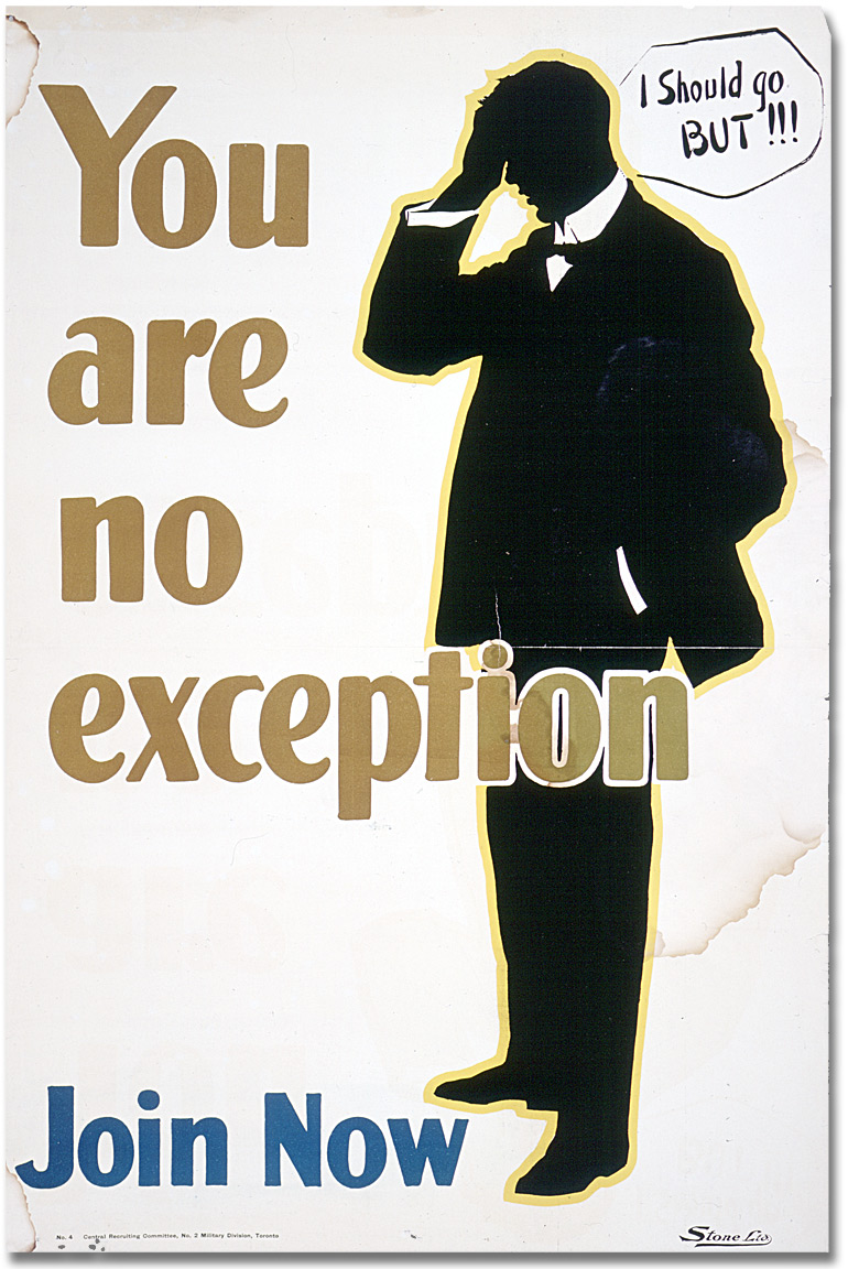 You are no exception - join now, [entre 1914 et 1918]