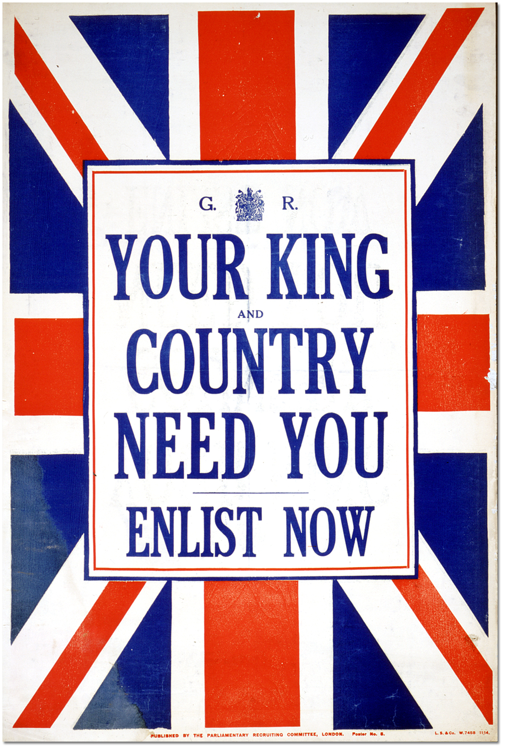 Your King and country need you, enlist now [United Kingdom], [between 1914 and 1918]