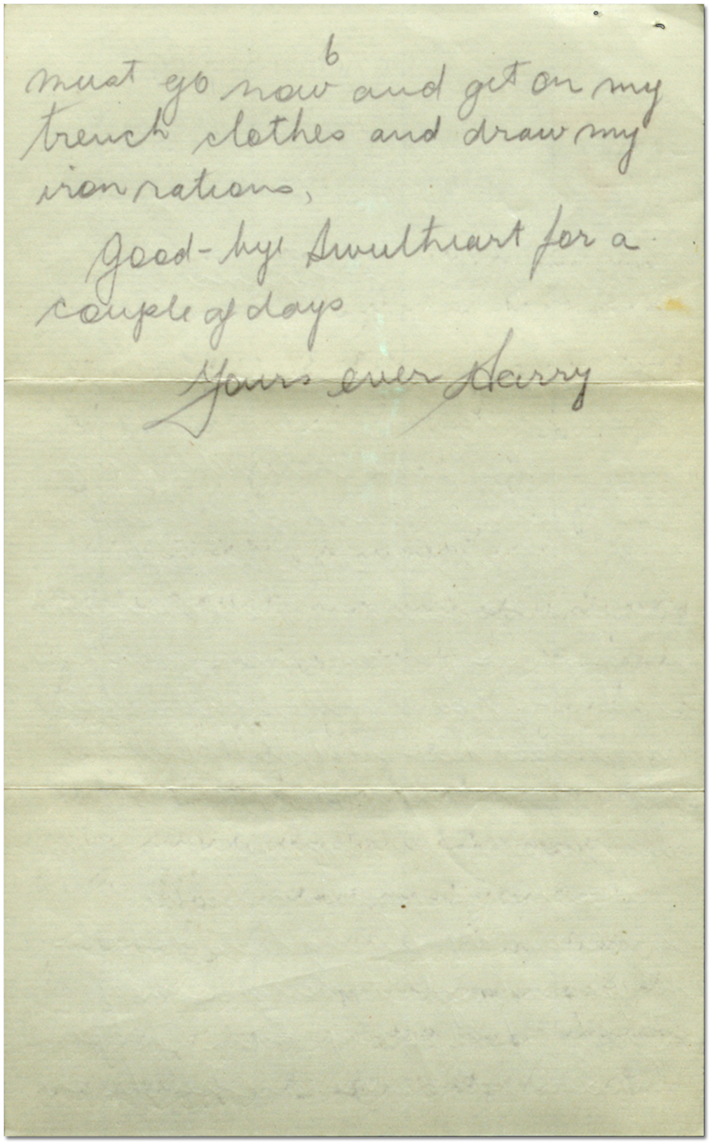 Letter from Harry Mason to Sadie Arbuckle, October 7, 1916