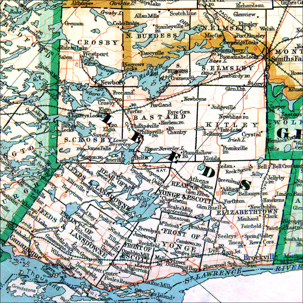 The Changing Shape of Ontario County of Leeds