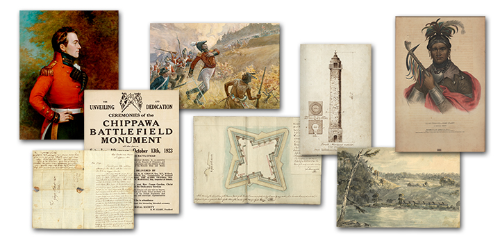 montage of images portraying the War of 1812