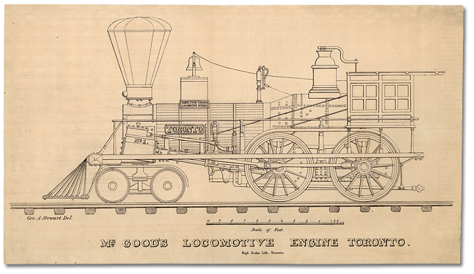 Mr. Good's Locomotive Engine, Toronto Date: 1840 – 1860