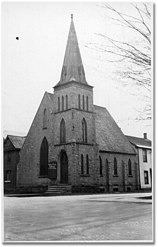 Photo: Women's Christian Temperance Union Hall at Owen Sound, [between 1878 and 1991]