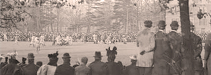 Spectators at a sporting event, [ca. 1915]