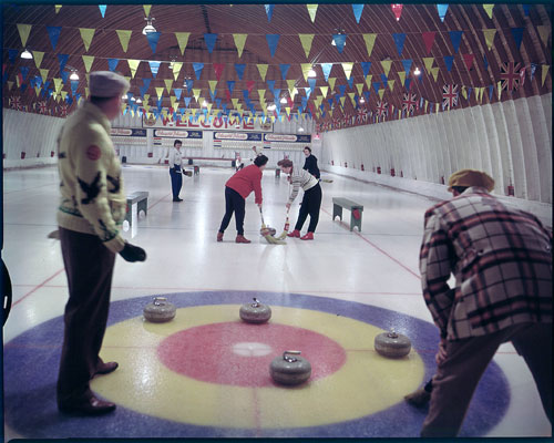 Curling au club de curling de Huntsville, 1960