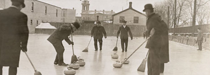 Men curling, 1909