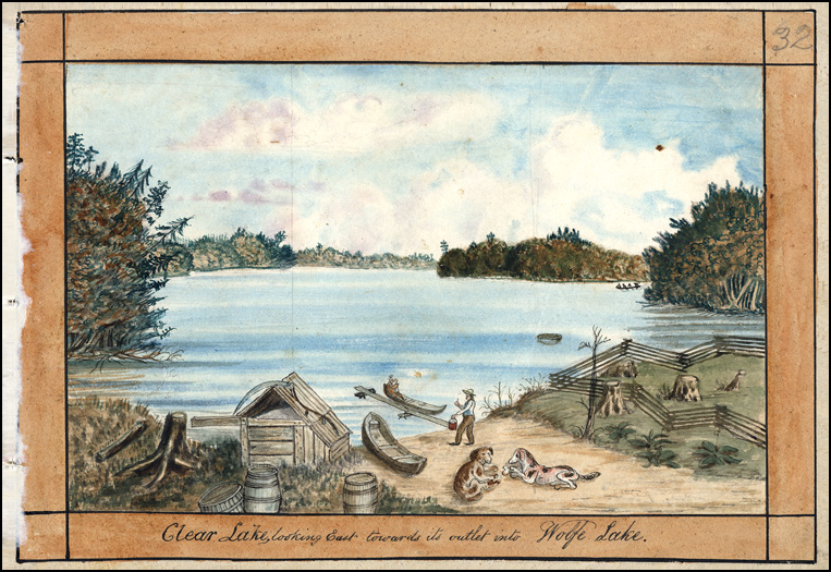 Clear Lake looking towards opening to Wolfe Lake, 1835