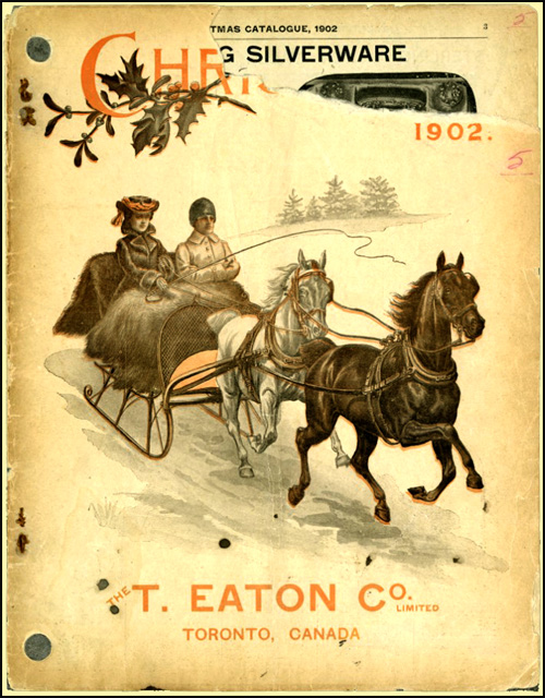 Couverture du catalogue de Noël de T. Eaton Co., 1902