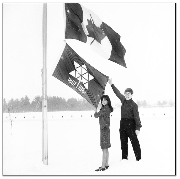 Raising the Centennial Flag, 1967