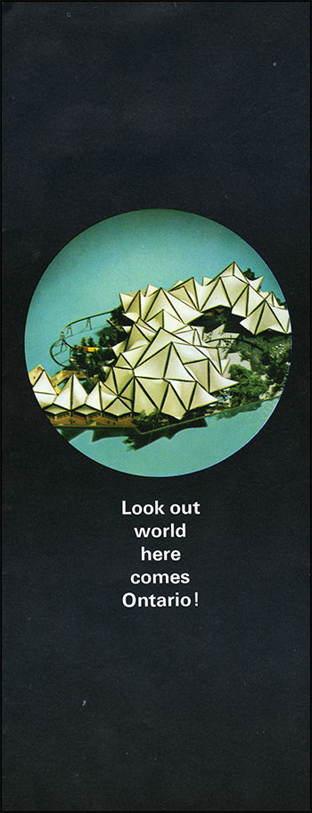 Expo 67 Ontario Pavilion pamphlet, ca. 1966