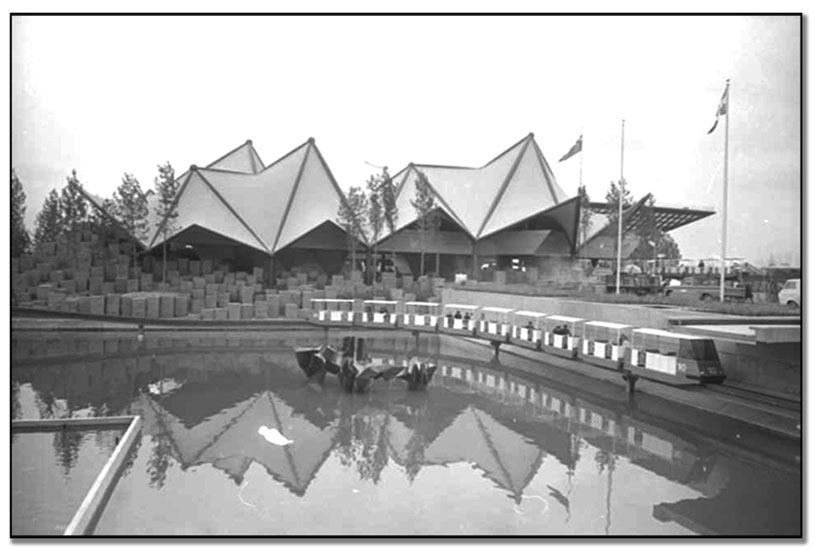 Exterior view of Ontario Pavilion at Expo 67, April 24, 1967 (67114-19)