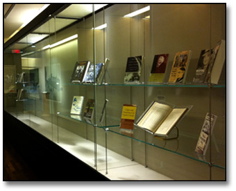 Archives library materials relating to exhibit