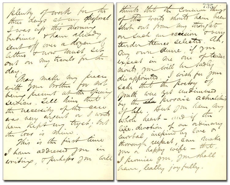 Letter from George Brown to Anne Nelson (Brown), 12 November 1862