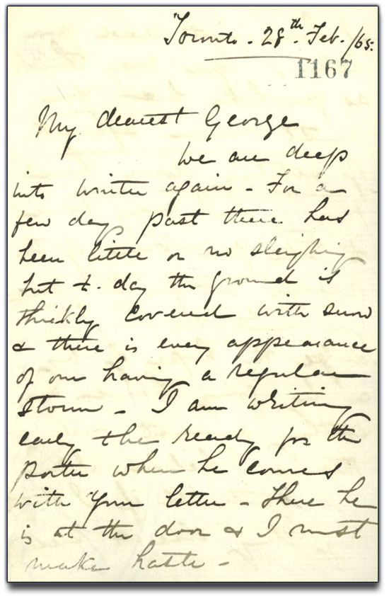 Letter from Anne Brown to George Brown, 28 February 1865