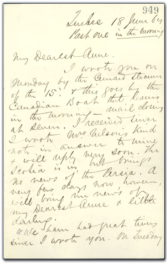 Letter from George Brown to