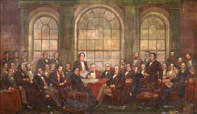 The Fathers of Confederation by Frederick Spronston Challener, 1917-1919
