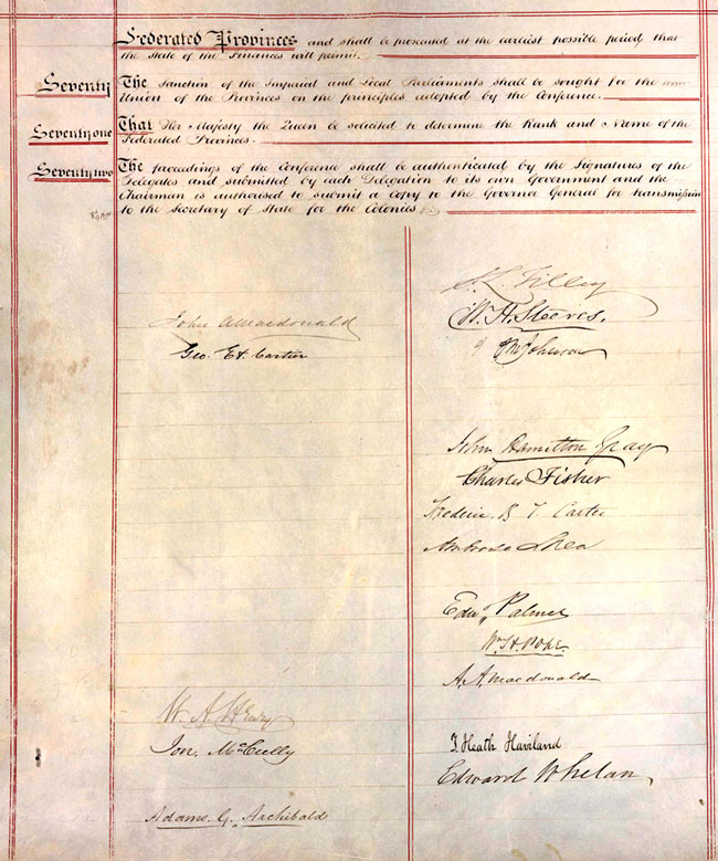 Report of Resolutions adopted at City of Quebec, 10 October 1864